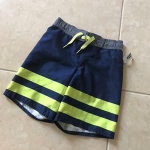 Old Navy Crockett Neon Stripe Swim Trunks 5 NEW XS